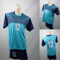 Setelan Baju/Kaos Sepak Bola/Futsal Team/Tim Anak Merah Biru Toska
