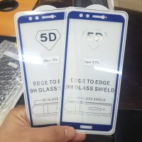 Anti Gores 5D Huawei Honor 9 Lite 2018 New Blue Tempered Glass