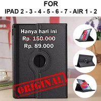 Flip cover rotate case Apple iPad 2 3 4 5 6 7 Air 1 2 casing auto lock - iPad 2 3 4, Black
