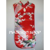 Dijual Cheongsham Merak Saten Baju Imlek Anak Dress Imlek Sutra Anak