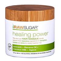 Raw Sugar Living Healing Power Hair Masque Avocado, Banana Oil, Coconu