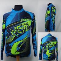 Kaos/Baju/Jersey Balap Sepeda/Gowes ONEAL Biru Hijau