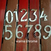 Nomor Plat Rumah Kantor Kuningan / Brass Chrome Number - Angka Huruf