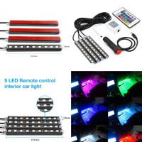 Lampu Led Kolong Remot RGB Universal / Aksesoris Mobil Xpander Cross