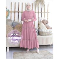 NEW MAXI KATRINA DUSTY [Gamis 0121] TF0 Baju Gamis Wanita Terbaru