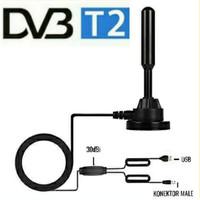 Portable Magnet Antena TV Turner Siaran Tv Digital With Booster 30dBi