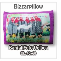 BANTAL FOTO CUSTOM VELBOA PRINTING 40 X 60 BP BIZZAR PILLOW