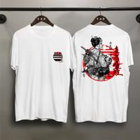 T-shirt Samurai Girl / Baju Kaos Distro Pria Wanita Cotton 30s
