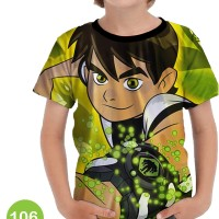 Baju Ben 10 - Alien Force 3D Kaos Baju Series Anak #106