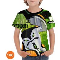 Baju Ben 10 - Alien Force 3D Kaos Baju Series Anak #108