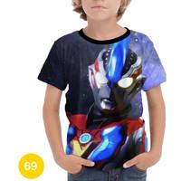 Baju Ultraman 3D Kaos Baju Series Anak #69