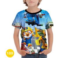 Baju Tayo the Little Bus 3D Kaos Baju Series Anak #189