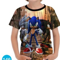Baju Sonic the Hedgehog 3D Kaos Baju Series Anak #146