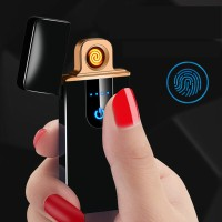 Korek Api Elektrik Fingerprint Sensor LED - MG-517 - Black