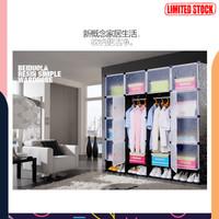 ADA FUJIAN Magic Wardrobe Lemari Baju Plastik DIY 16 Pintu - XYG191 -