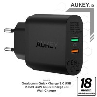 Aukey PA T13 Wall Charger with Quick Charge 3.0 33W 2 port