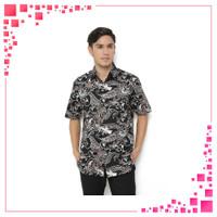 AA534 Agrapana Baju Batik Pria Lengan Pendek Batik Premium Kemeja Bati