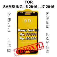 Tempered glass 5D Samsung J5 J7 2016 J510 J710 anti gores full layar - J5 2016