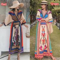 baju wanita impor Bohemian Beach Holiday Long Dresses Women Summer 3