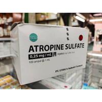 Atropin injeksi 0,25 mg