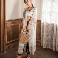 baju wanita impor Cardigan Wanita Lengan Panjang dengan Bahan Sifon