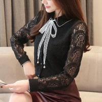baju wanita impor Blus Casual Gaya Korea Kerah Peterpan Lengan