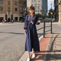 baju wanita impor Bohemian Long Dress Casual Women Slim Waist Long