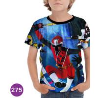 Baju Power Ranger Ninja Steel 3D Baju Grosir Anak #275