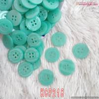 Kancing Polos Baju Hias DIY 2cm Hijau Tosca (1 Bks isi 12)- KCP218 L63