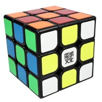 Topsung Magic Cube 3x3 Moyu Aolong V2 Speed Cube 3by3 Black with Tripo