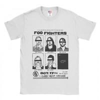 Baju Kaos Band Foo Fighters Chicago