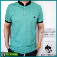 Kaos Berkerah Cowok / Kaos Polo Kombinasi / Baju Kerah Shanghai Pria
