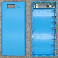 Taffware DIY Power Bank Case 2 USB Port & LCD 8x18650 - C13 Blue