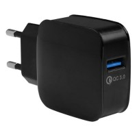 Taffware Wall Charger USB 1 Port QuickCharge 3.0 - BK-370