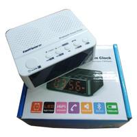 Taffware Jam Alarm Dengan Speaker Bluetooth - BC-01 White
