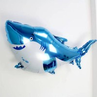 Blue Shark Balon Foil Jumbo/Balon karakter/Balon Foil/Balon Ikan Hiu