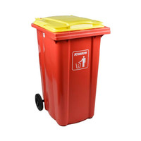 Krisbow 240 Ltr Tempat Sampah Plastik Neo - Merah