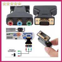 Jual RCA to VGA 3 RCA to 15Pin VGA Converter