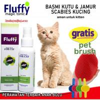 Obat Jamur dan Kutu Kucing Fluffy Cat Bahan Alami Tanpa Pestisida Aman