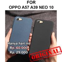 Sand scrub soft case Oppo A57 - A39 Neo 10 casing hp cover silikon tpu - Black