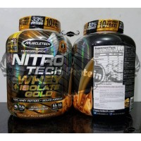 BPOM AOM Nitrotech 4 Lbs Isolate GOLD Lb Muscletech Whey IsoGOLD Iso