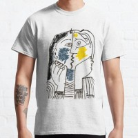 Kaos Pablo Picasso The Kiss 1979 Artwork Reproduction For T Sh T-shirt