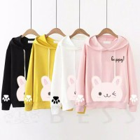 Hoodie Anak Rabbit Sweater Anak Remaja Outer Anak Perempuan Baju Anak