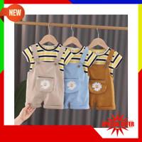 FJ259 G893 Setelan Anak Bayi Import Lucu Celana T-shirt Setelan Overal