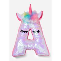 Justice Girls Bantal Unicorn Payet Initial Multi-6895