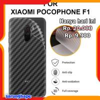 Xiaomi Pocophone F1 - Antigores Belakang Carbon Back Skin Garskin