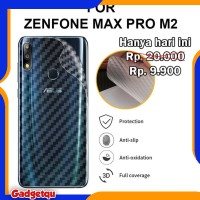 Asus Zenfone Max Pro M2 ZB631KL - Carbon Back Skin Antigores Belakang