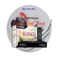 Paket Dish Antena Parabola Mini ODU 45cm Ninmedia Receiver Matrix M