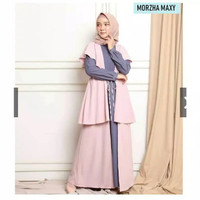 TRENDY Morzha maxy baju gamis pakaian wanita fashion muslin dress