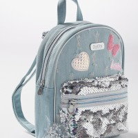 Justice Girls Tas Ransel Denim Patches Multi-2975 - One Size